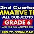 GRADE 6 (2nd Quarter Summative Tests) All Subjects with TOS