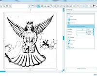 """Screenshot: Beim Bild """"Engel"""" wird der Kontrast erhöht"""