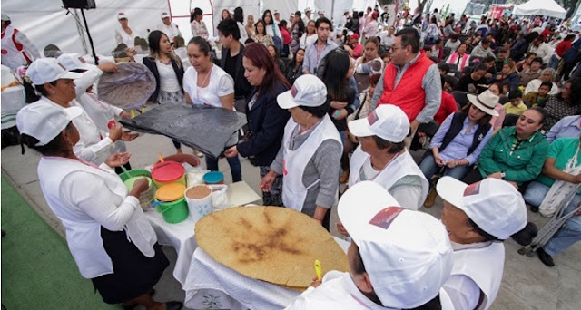 Tostadas en Toluca, alimentos