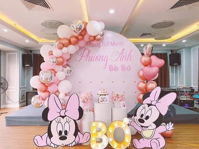 Thuê trang tri sinh nhật tại nhà Xuân Phương- Nam Từ Liêm