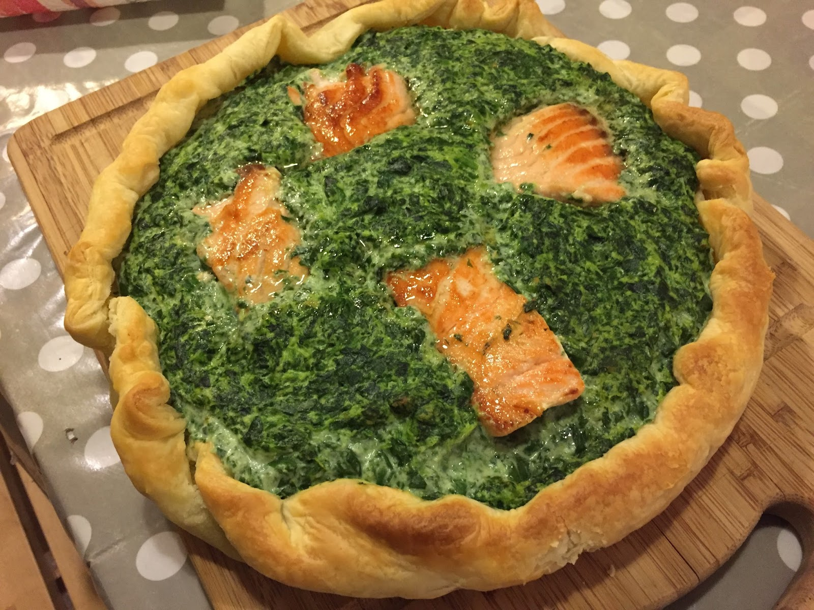 Quiche Epinards Saumon Facile