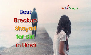 Best Breakup Shayari for Girlfriend Hindi With Sad Pic Shayari