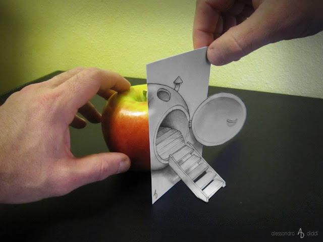 ilusi gambar tiga dimensi yang keren dan menakjubkan serta kreatif-28