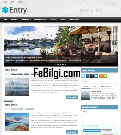 Blogger Kurumsal Site Teması Mobil Uyumlu Ücretsiz İndir 2020