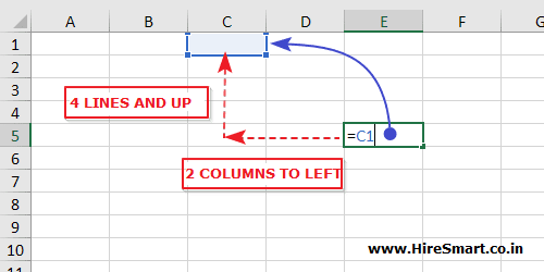 Relative cell reference in Microsoft Excel