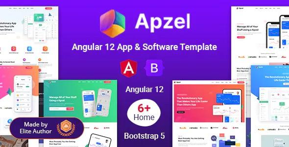 Best Angular 12 SaaS App & Software Startup Template
