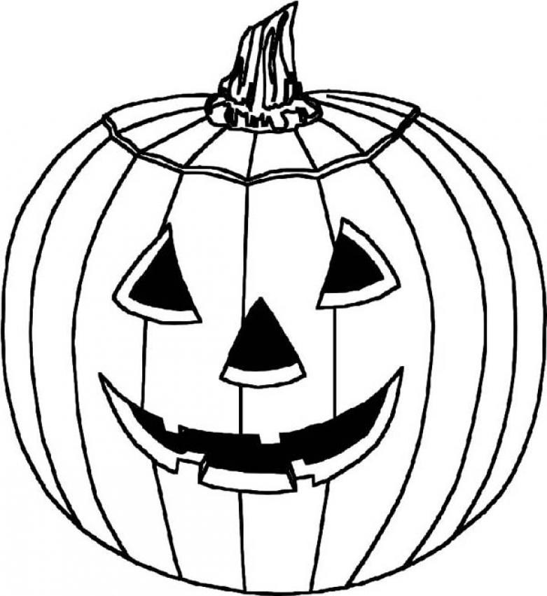 halloween pumpkins coloring pages - photo #1