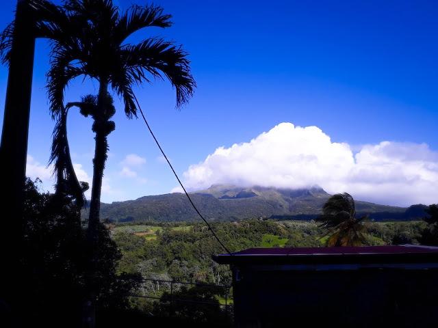 volcano over the horizon