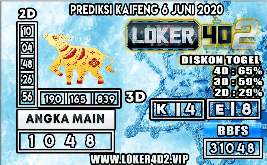 PREDIKSI TOGEL KAIFENG LOKER4D2 6 JUNI 2020