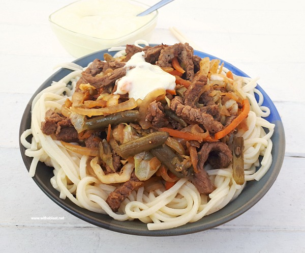 30 Minute (6 Servings!) Homemade Beef Chow Mein with Sour Sauce