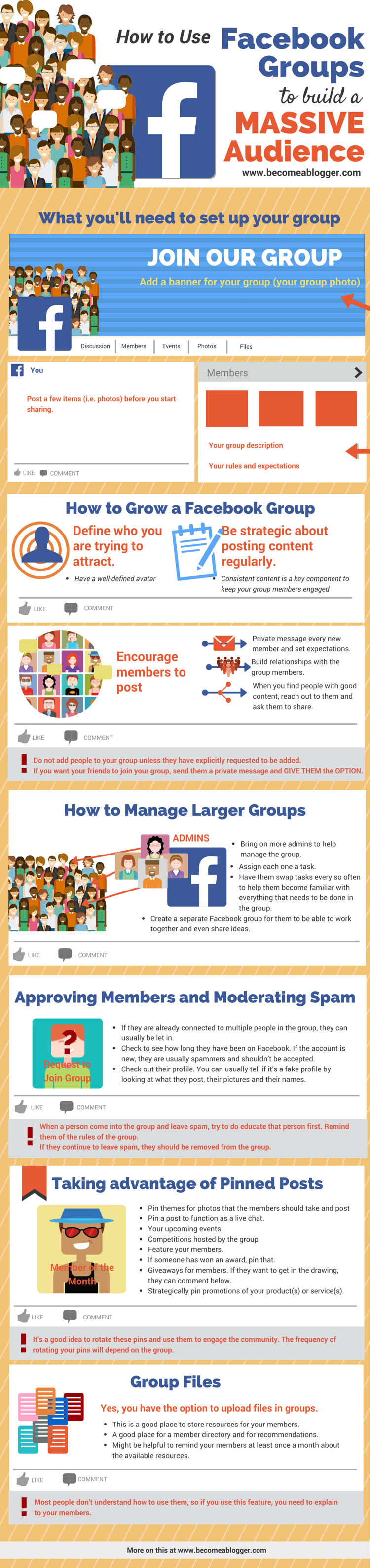 How to Use Facebook Groups to Build a Massive Audience - infographic