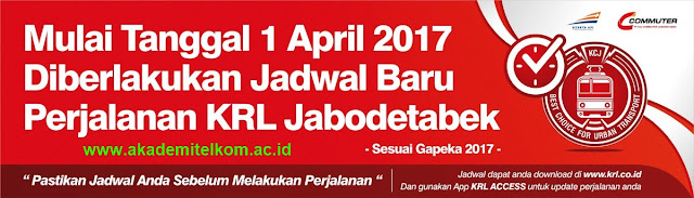Jadwal KRL Commuter Line per 1 April 2017