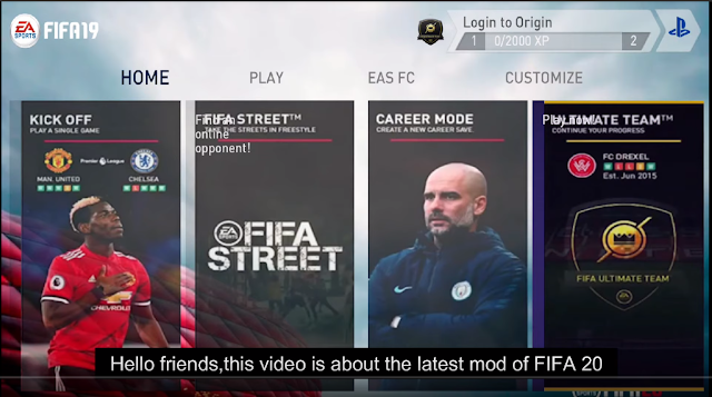 Download FIFA 20  for Android (Apk+Data) Latest Update July 1st
