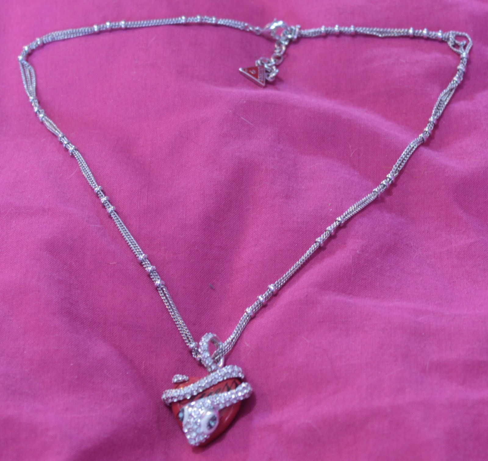 Guess Snake Heart Necklace