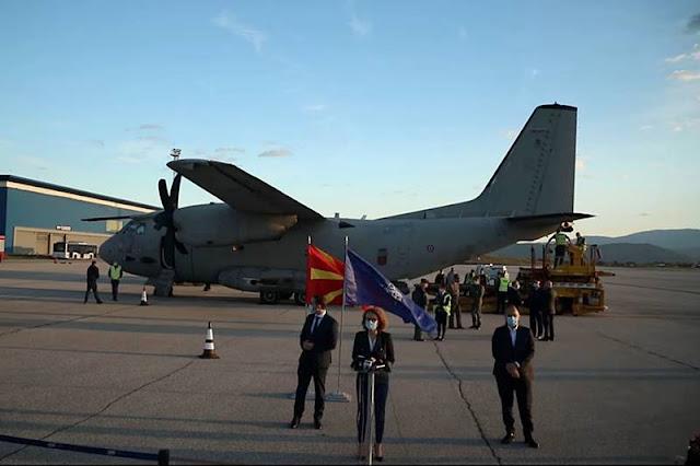 NATO delivers ventilators North Macedonia