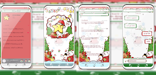 Tema Merry Christmas Hello Kitty untuk Vivo 2