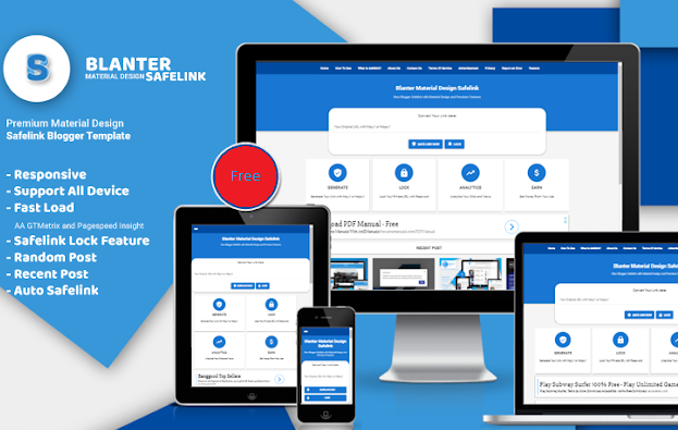 Premium Blanter Safelink Blogger Template