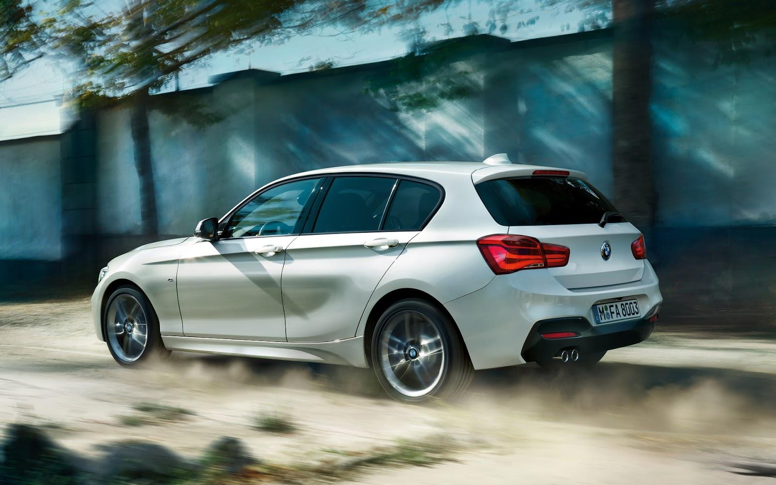 Bagagliaio BMW Serie 1 (5 porte): capacità volumetrica in litri