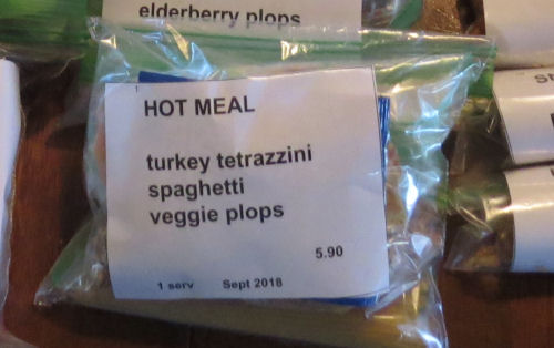 ziplock bag with trail food