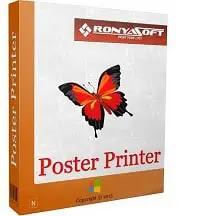 برنامج طباعة البوسترات والملصقات وتقسيمها على ورق A4 RonyaSoft Poster Printer