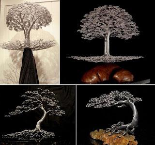 Arbol hecho de alambre