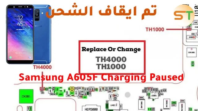 Samsung A605F Charging Paused Problem