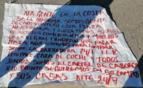 """Aparece Narcomanta de """"El Cártel de Caborca"""" de Caro Quintero y da nuevo anuncio"""