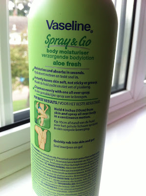 Vaseline Spray & Go Moisturiser // Review