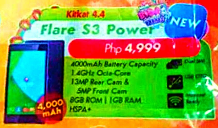 Cherry Mobile Flare S3 Power, Octa Core with 4000mAh Battery for Php4,999