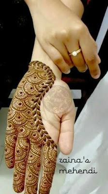 New Stylish Mehndi Designs Front Hand Cute Mehndi Design