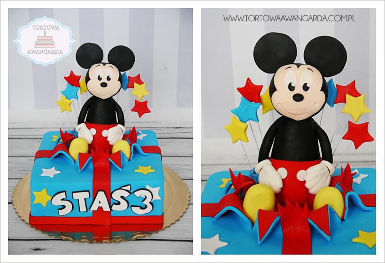 kolorowy urodzinowy tort z Myszką Miki Mickey dla chłopca dziewczynki Warszawa