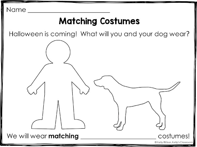 Matching Costumes book by D.G. Driver / Printable by Kelly Wilson