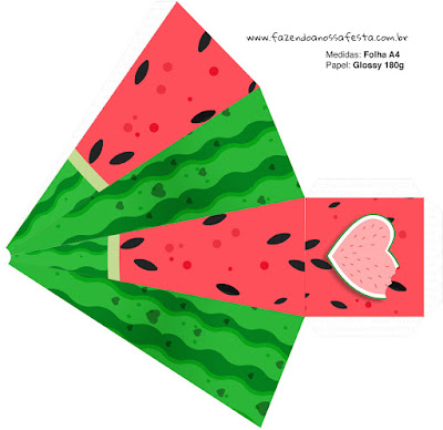 Watermelon Heart: Free Printable Boxes.