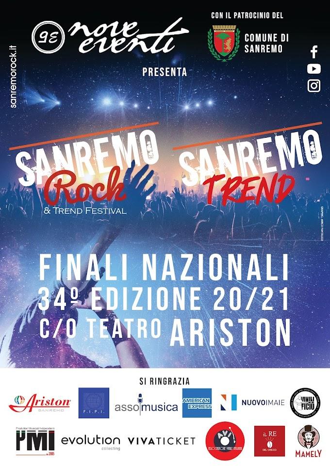 Sanremo Rock & Trend Festival, al via le fasi finali dal 6 al 10 Settembre 2021