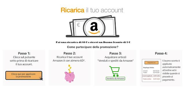 73b891796f Come ricevere un buono sconto di 6€ su Amazon - Why-Tech. AMAZON: ricarica  il tuo account con 60 € e ricevi un Buono Sconto di 5