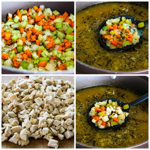 Low-Carb Turkey Soup with Zucchini Noodles [KalynsKitchen.com]