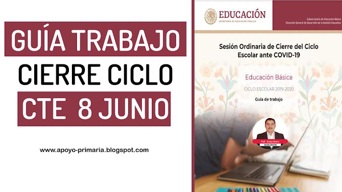 Consejo Técnico Escolar Sesión Ordinaria de Cierre del Ciclo Escolar
