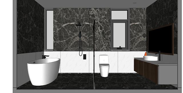 Bathroom Sketchup Interior Scene , 3d free , sketchup models , free 3d models , 3d model free download