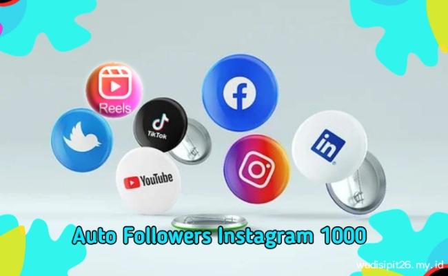 Auto followers IG 1000 tanpa login dan password