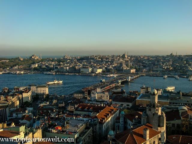 Blick auf den Bosporus und Istanbul - Blog Topfgartenwelt