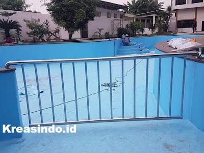 Harga Pagar Kolam Renang Stainless dan Pagar kolam renang stainless Kombinasi Kaca atau Akrilik dan Pembatas Kolam Renang