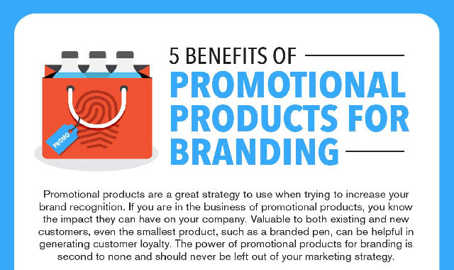 5 Benefits of Promotional Products for Branding #infographic