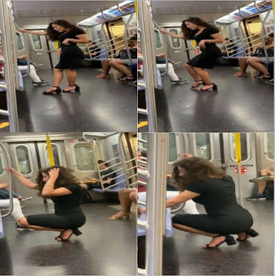 Jessiica George Selfie Photo shoot on new york metro train goes viral for the best reason Trending News tracker