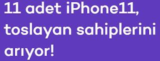 tosla iphone çekilişi