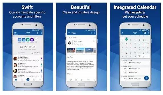 Blue Mail - Aplikasi buka email di Android