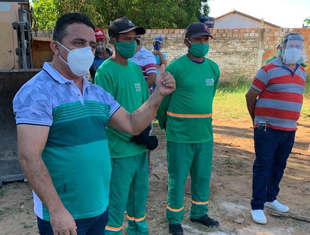 Professor Ribinha anuncia mutirão de limpeza em Campo Maior a partir desta segunda-feira