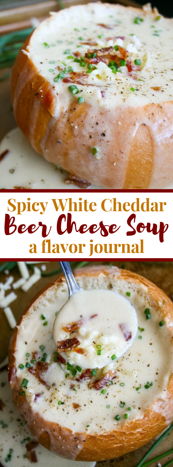 spicy white cheddar beer cheese soup #dinner #comfortfood