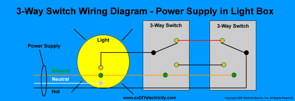 Wiring 3 Way Switch With Lights Diagram