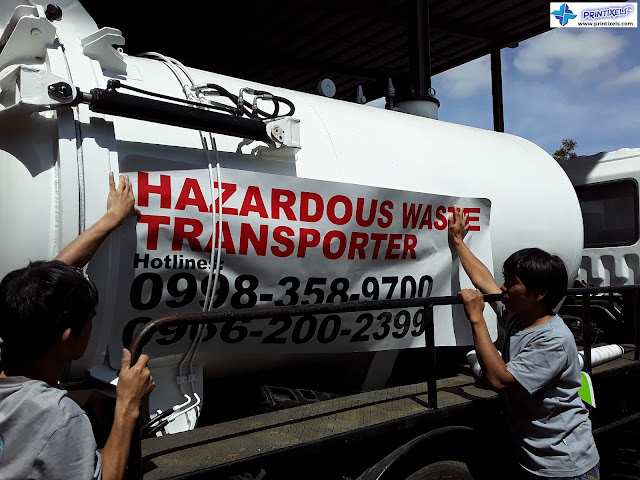 Tanker Truck Sticker Installation