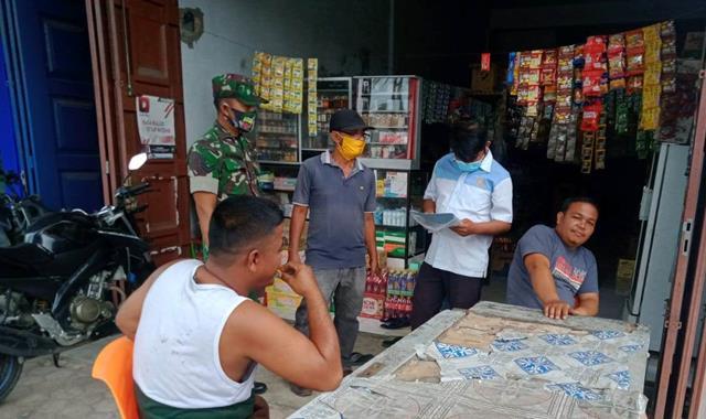Tepatnya Diwilayah Binaan, Personel Jajaran Kodim 0207/Simalungun Laksanakan Sosialissi Pentingnya Pakai Masker